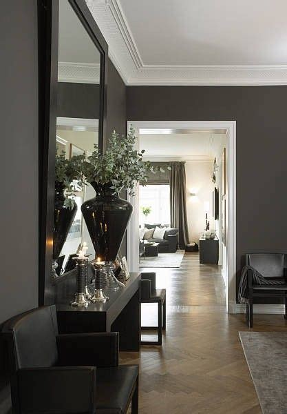 dark gray walls p a beautiful home in oslo with grey walls and crisp