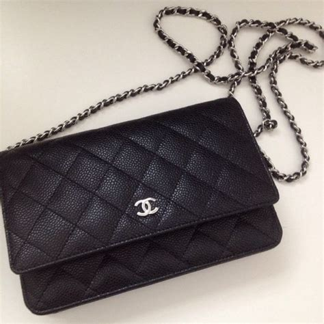 Boy In Black Silver Hardware Caviar Sale chanel wallet on chain in classic quilt black caviar with silver hardware purses