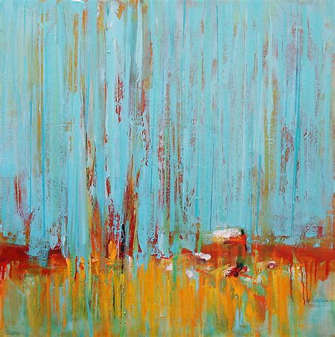 painting large original abstract landscape colorful