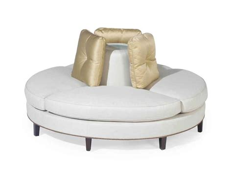 circular sofa a circular white upholstered confidante sofa late 20th