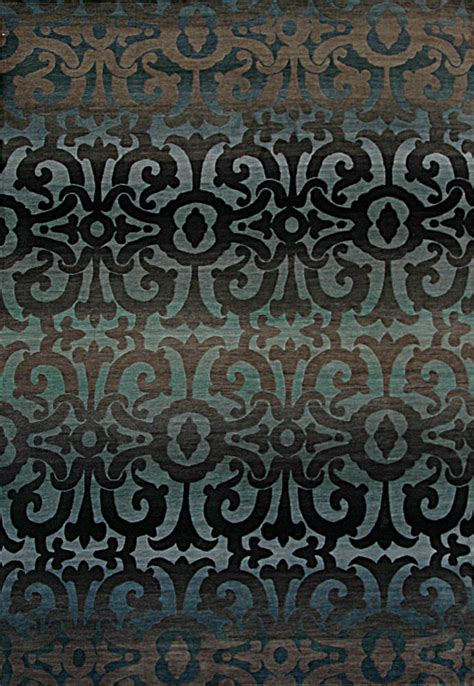 Tibetan Area Rug Rugstudio Presents Tibet Rug Company 100 Knot Premium Tibetan Wrought Iron Blue Area Rug