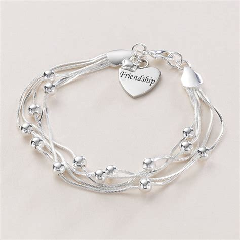 Friendship Bracelet with Any Engraving   Jewels 4 Girls
