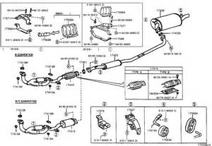 Toyota Rav4 Exhaust System Diagram Toyota Ta A Exhaust System Diagram Toyota Free Engine