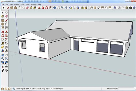 Delightful Draw 3d House Plans Online Free #6: Google-sketchup-house-simple-sketch_78995.jpg