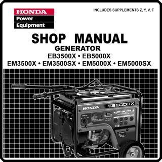 Eb5000 Honda Generator Service Manual