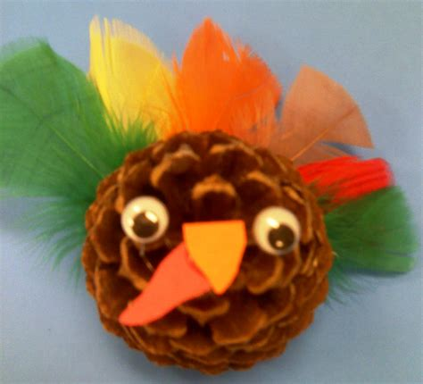 pinecone turkey craft preschool crafts for thanksgiving pine coneturkey craft