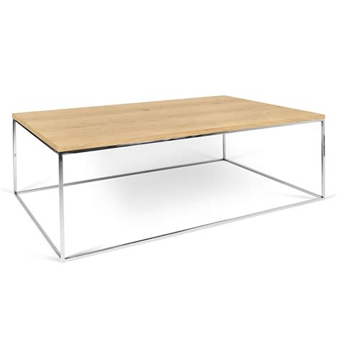 chrome coffee table gleam oak chrome modern coffee table by temahome