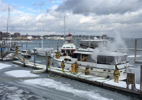 boat store open on sunday fire damages 50 foot yacht at south port marine the