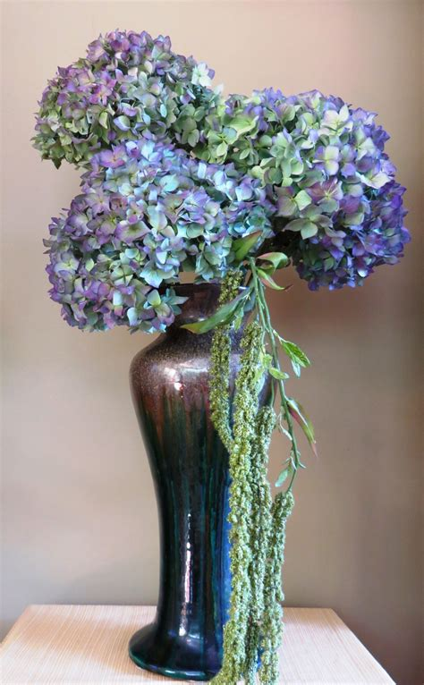 flower arranging with hydrangeas sweet cottage