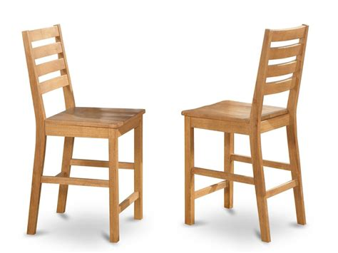 Chair Seat Height Images Set Of 6 Cafe Counter Height Wood Seat Chairs 24 Quot Seat Height Bar Stool In Oak Sku Cfs Oak W