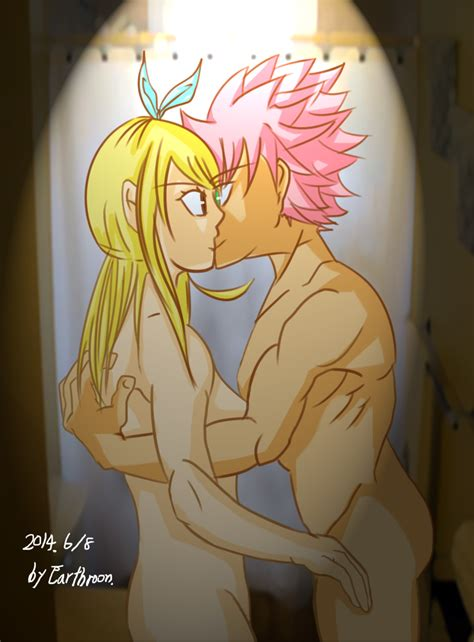 fairy tail natsu and lucy kiss by earthroon on deviantart
