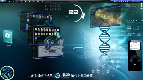 themes for windows 7 3d windows 7 theme 3d fully customized 2011 youtube youtube