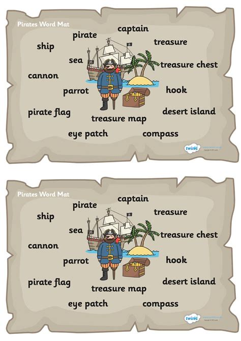 boat pictures twinkl twinkl resources gt gt pirate word mat gt gt thousands of