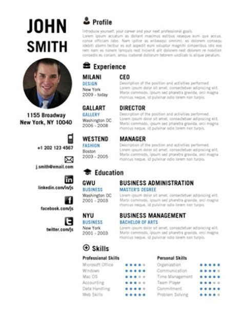 creative resume template by cvfolio resumes