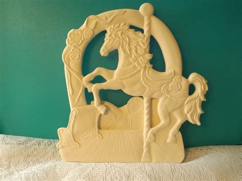carousel ceramic paint carousel silhouette bisque ready to paint unpainted you