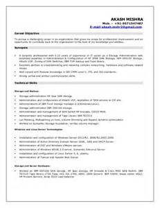 resume akash storage admin