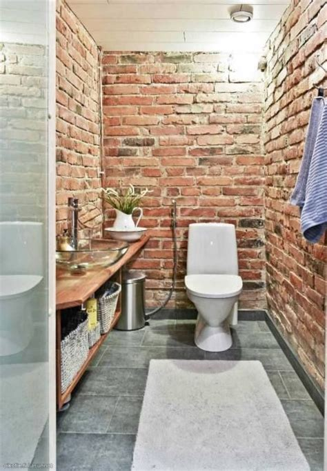 bathroom brick wall red brick walls in a toilet garden pinterest toilets