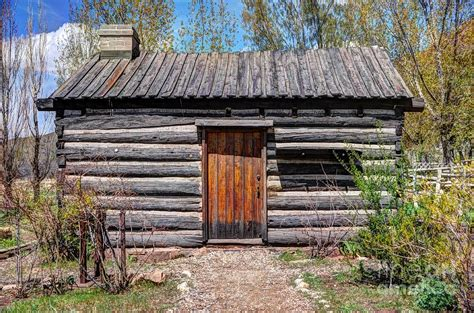 rustic pioneer log cabin salt lake city photograph by