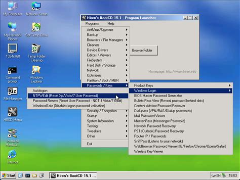 Reset Password Windows Xp Hirens Boot Cd | how to reset a lost or forgotten windows password