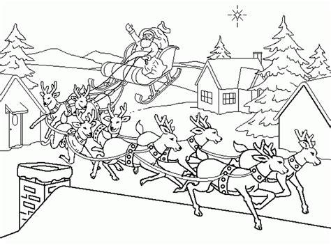 imagenes de santa claus y los renos santa claus con su trineo y sus renos