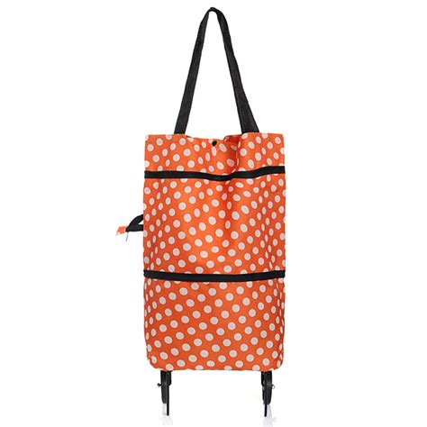 Trolley Foldable Shopping Travel Bag Tas Tenteng Troly Handbags portable shopping trolley wheels folding luggage cart bag
