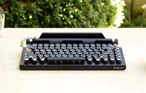qwerkywriter typewriter styled wireless keyboard gadgetsin