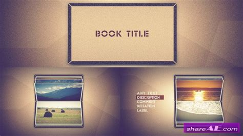 Photo Book Scrolling After Effects Project Videohive 187 Free After Effects Templates After Scrolling Text After Effects Template