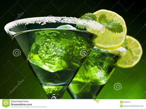 green cocktail mint green cocktails stock image image 29952271