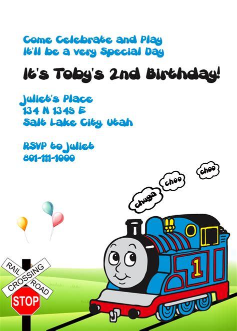 printable birthday invitations thomas the tank engine thomas the tank engine invitation wedding invitation