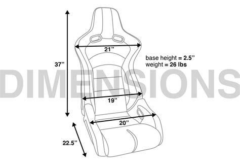 corbeau sport seat dimensions corbeau sportline rrb reclining seat pair z1 motorsports