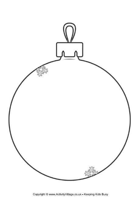 bauble template printable bauble templates happy holidays