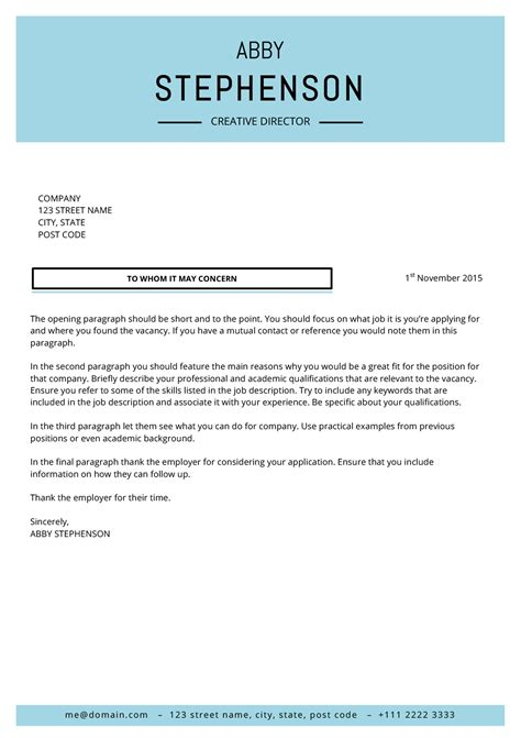 cover letter the shop the abby cover letter minimalist template