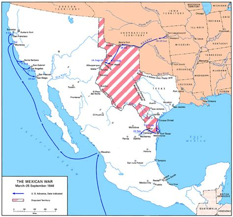 map us before mexican war gateway south the caign for monterrey