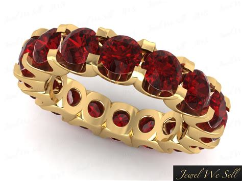 Ruby 5 45ct 5 45ct ruby shared u prong eternity wedding band