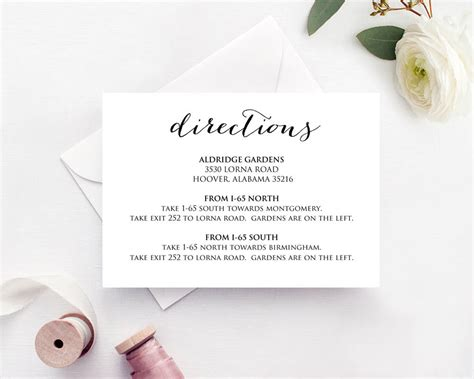 wedding address cards templates wedding directions card 183 wedding templates and printables