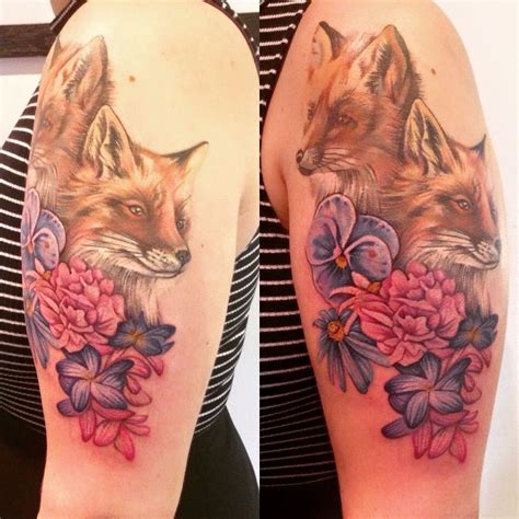 jamieson tattoo leeds foxes and flowers by ruth jamieson start of my nature