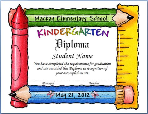 keeping focused kindergarten graduation 2012
