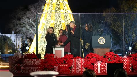 obama lights the national christmas tree video nytimes com