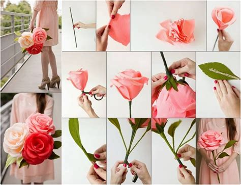 How To Make Crepe Paper Roses - diy crepe paper