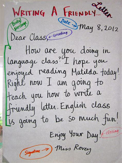 roreys room friendly letter writing