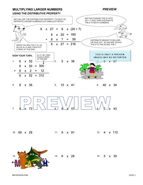 addition multiplication properties worksheet associative