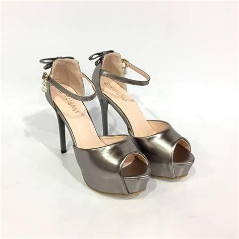 Sepatu High Heels Import 11cm White jual shh987 bronze sepatu heels elegan 11cm grosirimpor