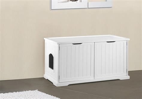 bench litter box merry products cat washroom bench decorative litter box