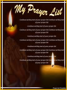 Prayer List Template by Prayer List Template Word Excel Pdf