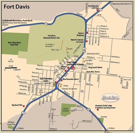 fort texas map ft davis texas