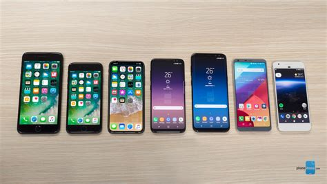 iphone 8 dimensions and size comparison vs iphone 7 galaxy s8 lg g6 pixel phonearena