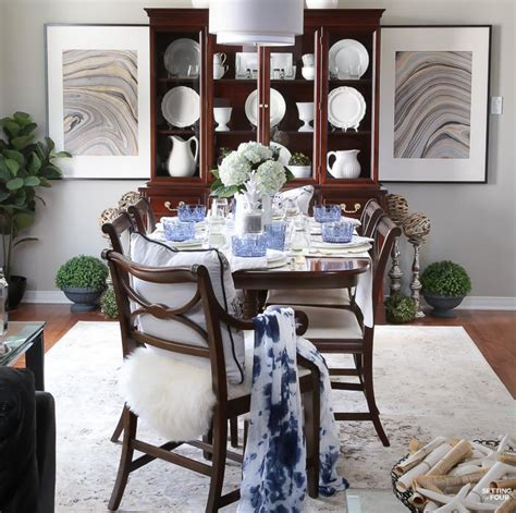 Blue Dining Room Accessories Decorating With Indigo Blue Black And Gray Shades Of