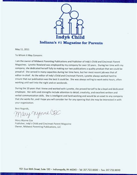 Recommendation Letter For In Letters Of Recommendation Lynette Rowland