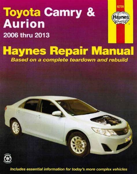 online service manuals 2006 toyota solara engine control toyota camry aurion 2006 2013 haynes workshop manual workshop car manuals repair books
