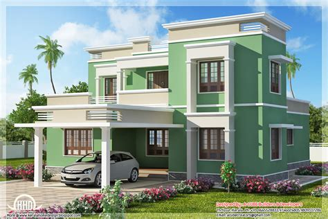 kerala home design flat roof elevation indian flat roof villa in 2305 sq feet kerala home